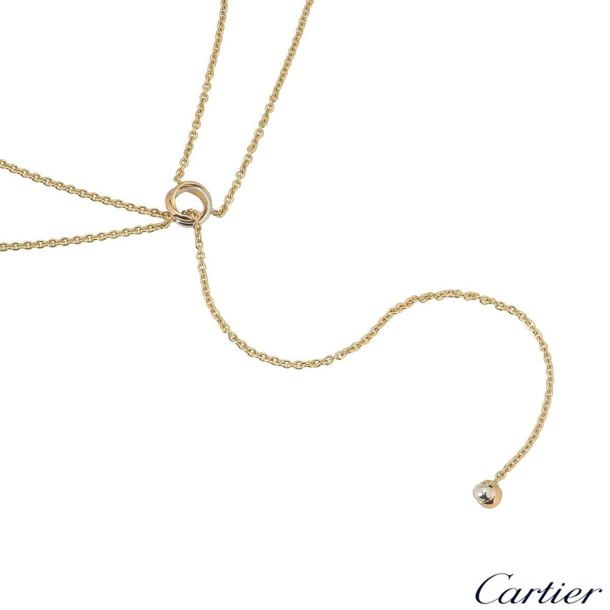 Cartier Tri-Colour Gold Baby Trinity Necklace